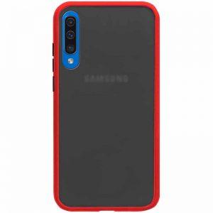 Чехол TPU+PC Soft-touch with Color Buttons для Samsung Galaxy A50 / A30s – Красный