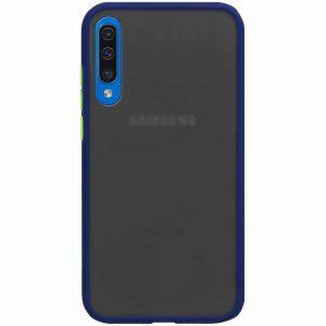 Чехол TPU+PC Soft-touch with Color Buttons для Samsung Galaxy A50 / A30s – Синий