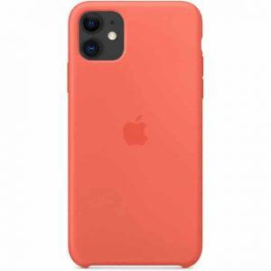 Оригинальный чехол Silicone Case с микрофиброй для Iphone 11 – Clementine