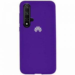 Оригинальный чехол Silicone Cover 360 с микрофиброй для Huawei Honor 20 / Nova 5T – Purple