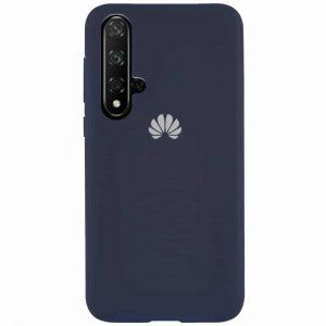 Оригинальный чехол Silicone Cover 360 с микрофиброй для Huawei Honor 20 / Nova 5T – Midnight blue