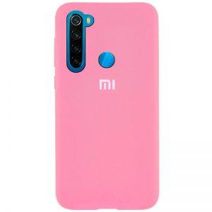 Оригинальный чехол Silicone Cover 360 с микрофиброй для Xiaomi Redmi Note 8T – Pink