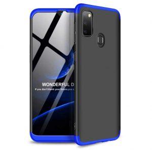 Матовый пластиковый чехол GKK 360 градусов для Samsung Galaxy M30s (M307F) – Черный / Синий