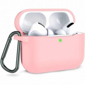 Чехол для наушников Silicone Case + карабин для Apple Airpods Pro – Pink