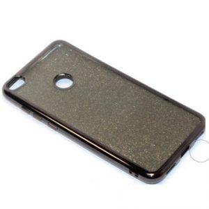 Cиликоновый (TPU) чехол с блестками для Huawei P8 Lite 2017- Gray