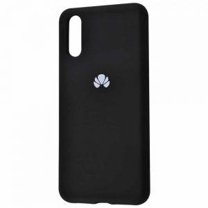 Оригинальный чехол Silicone Cover 360 с микрофиброй для Huawei P20 – Black