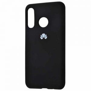 Оригинальный чехол Silicone Cover 360 с микрофиброй для Huawei P Smart Z (Черный)