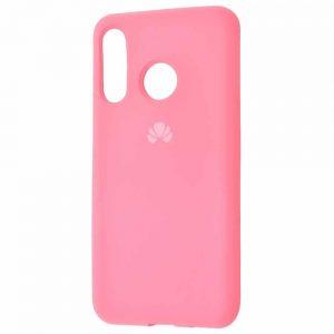 Оригинальный чехол Silicone Cover 360 с микрофиброй для Huawei P30 Lite – Light pink