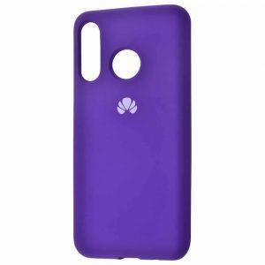 Оригинальный чехол Silicone Cover 360 с микрофиброй для Huawei P30 Lite – Purple
