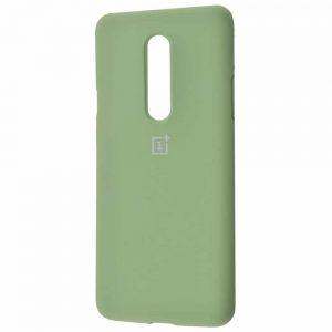 Оригинальный чехол Silicone Cover 360 с микрофиброй для OnePlus 7 Pro – Mint gum