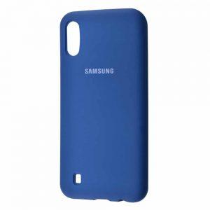 Оригинальный чехол Silicone Cover 360 с микрофиброй для  Samsung Galaxy M10 – Blue