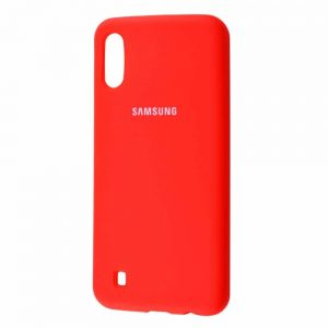 Оригинальный чехол Silicone Cover 360 с микрофиброй для Samsung Galaxy M10 – Red
