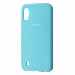 Оригинальный чехол Silicone Cover 360 с микрофиброй для Samsung Galaxy M10 – Turquoise