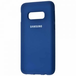 Оригинальный чехол Silicone Cover 360 с микрофиброй для Samsung S10e (G970) – Blue