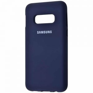 Оригинальный чехол Silicone Cover 360 с микрофиброй для Samsung S10e (G970) – Midnight blue