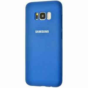 Оригинальный чехол Silicone Cover 360 с микрофиброй для Samsung Galaxy S8 Plus (G955) – Blue