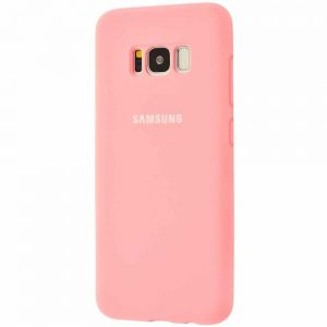 Оригинальный чехол Silicone Cover 360 с микрофиброй для Samsung Galaxy S8 Plus (G955) – Light pink