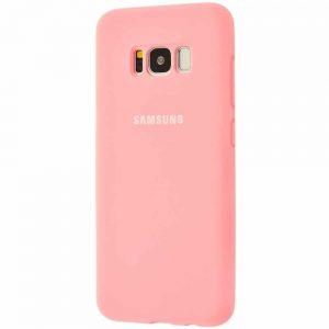Оригинальный чехол Silicone Cover 360 с микрофиброй для Samsung Galaxy S8 (G950) – Light pink