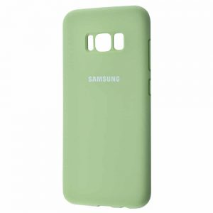 Оригинальный чехол Silicone Cover 360 с микрофиброй для Samsung Galaxy S8 Plus (G955) – Mint gum