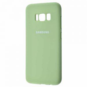 Оригинальный чехол Silicone Cover 360 с микрофиброй для Samsung Galaxy S8 (G950) – Mint gum