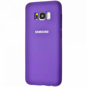 Оригинальный чехол Silicone Cover 360 с микрофиброй для Samsung Galaxy S8 Plus (G955) – Purple
