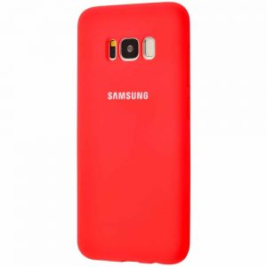 Оригинальный чехол Silicone Cover 360 с микрофиброй для Samsung Galaxy S8 Plus (G955) – Red