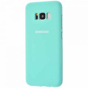 Оригинальный чехол Silicone Cover 360 с микрофиброй для Samsung Galaxy S8 (G950) – Turquoise