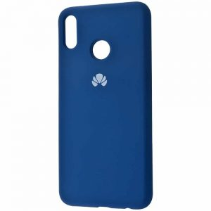 Оригинальный чехол Silicone Cover 360 с микрофиброй для Huawei P Smart 2019 / Honor 10 Lite – Blue