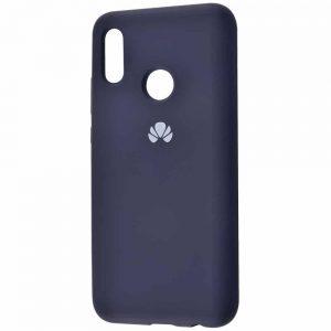 Оригинальный чехол Silicone Cover 360 с микрофиброй для Huawei Honor 8x – Midnight blue