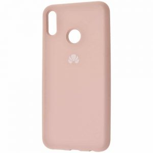 Оригинальный чехол Silicone Cover 360 с микрофиброй для Huawei P Smart 2019 / Honor 10 Lite – Pink sand