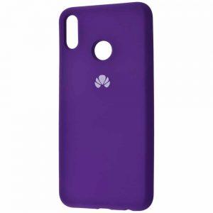 Оригинальный чехол Silicone Cover 360 с микрофиброй для Huawei P Smart 2019 / Honor 10 Lite – Purple