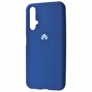 Оригинальный чехол Silicone Cover 360 с микрофиброй для Huawei Honor 20 / Nova 5T – Blue