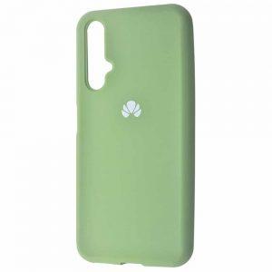 Оригинальный чехол Silicone Cover 360 с микрофиброй для Huawei Honor 20 / Nova 5T – Mint gum