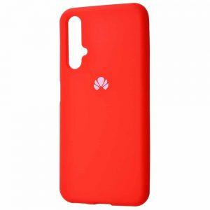 Оригинальный чехол Silicone Cover 360 с микрофиброй для Huawei Honor 20 / Nova 5T – Red