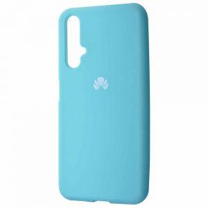 Оригинальный чехол Silicone Cover 360 с микрофиброй для Huawei Honor 20 / Nova 5T – Turquoise