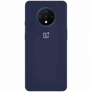 Оригинальный чехол Silicone Cover 360 с микрофиброй для OnePlus 7T – Синий / Dark Blue