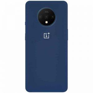 Оригинальный чехол Silicone Cover 360 с микрофиброй для OnePlus 7T – Синий / Navy Blue