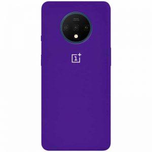 Оригинальный чехол Silicone Cover 360 с микрофиброй для OnePlus 7T – Фиолетовый / Purple