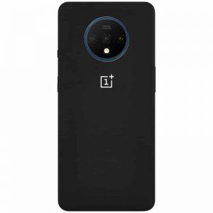 Оригинальный чехол Silicone Cover 360 с микрофиброй для OnePlus 7T – Черный / Black