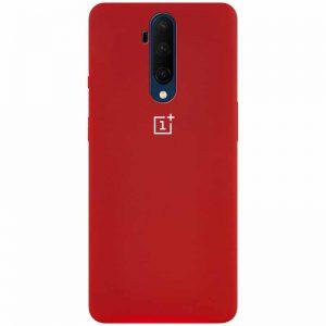 Оригинальный чехол Silicone Cover 360 с микрофиброй для OnePlus 7T Pro – Красный / Dark Red