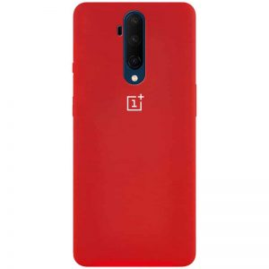 Оригинальный чехол Silicone Cover 360 с микрофиброй для OnePlus 7T Pro – Красный / Red