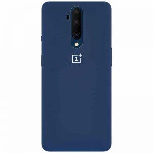 Оригинальный чехол Silicone Cover 360 с микрофиброй для OnePlus 7T Pro – Синий / Navy Blue