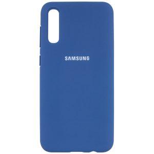 Оригинальный чехол Silicone Cover 360 с микрофиброй для Samsung Galaxy A50 2019 (A505) / A30s 2019 (A307) – Синий / Navy Blue