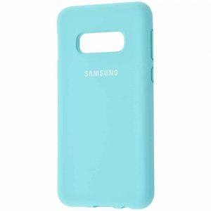 Оригинальный чехол Silicone Cover 360 с микрофиброй для Samsung S10e (G970) – Turquoise