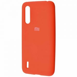 Оригинальный чехол Silicone Cover 360 с микрофиброй для Xiaomi Mi 9 Lite / Mi CC9 – Orange