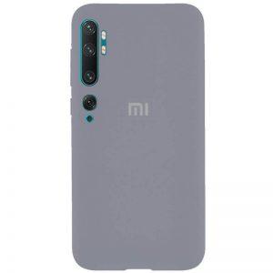 Оригинальный чехол Silicone Cover 360 с микрофиброй для Xiaomi Mi Note 10 / Mi Note 10 Pro – Серый / Lavender