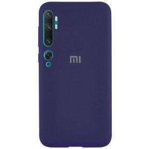 Оригинальный чехол Silicone Cover 360 с микрофиброй для Xiaomi Mi Note 10 / Mi Note 10 Pro – Синий / Dark Blue