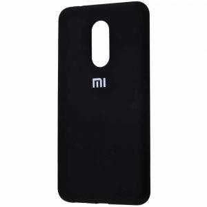 Оригинальный чехол Silicone Cover 360 с микрофиброй для Xiaomi Redmi 5 Plus – Black