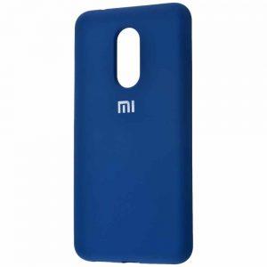 Оригинальный чехол Silicone Cover 360 с микрофиброй для Xiaomi Redmi 5 Plus – Blue
