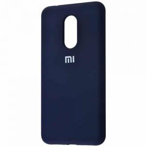Оригинальный чехол Silicone Cover 360 с микрофиброй для Xiaomi Redmi 5 Plus – Midnight blue